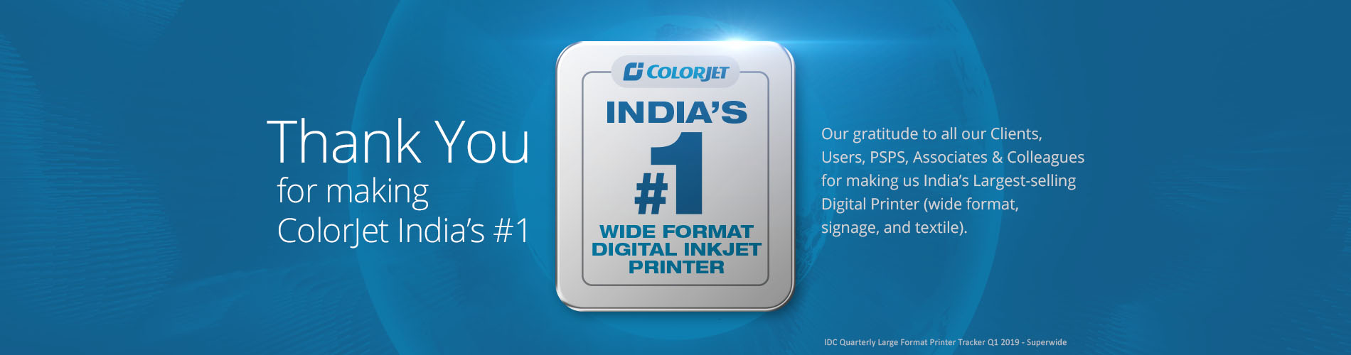 colorjet Indias No1 Wide format Digital Inkjet Printer by IDC