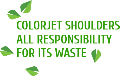 colorjet shoulders all responsibility for its waste